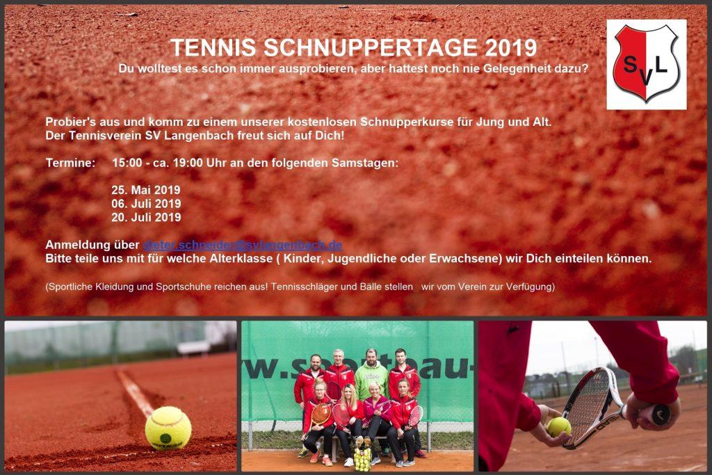 Tennis Schnuppertage 2019